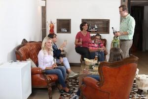 Gemütliches Zusammensein in der Lounge